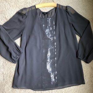 Gray shimmer blouse